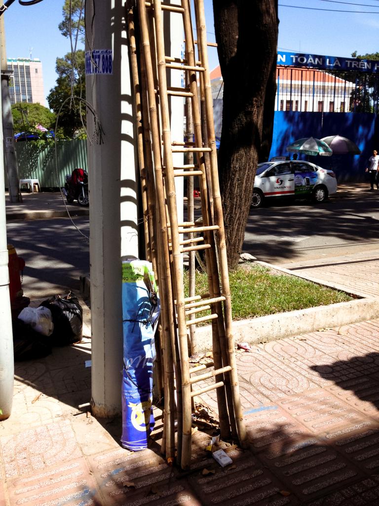 Žebříky z bambusu