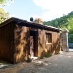 Domek obložený bambusem