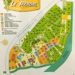 Plánek kempu le Pradal